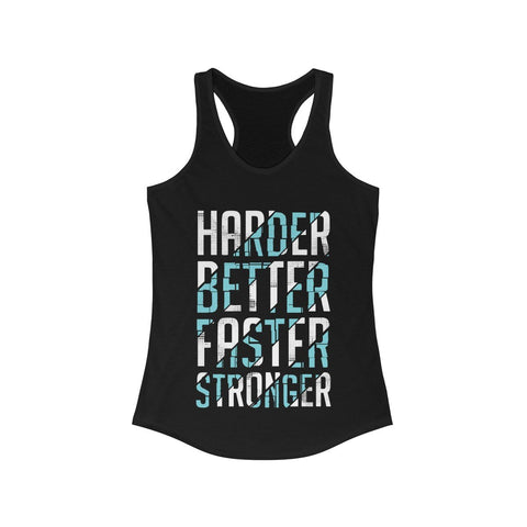 Harder Better Faster Stronger Racerback Tank Top