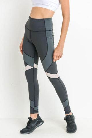 Highwaist Dragonfly Colorblock Full Leggings
