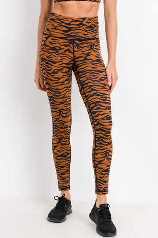Tiger Print Highwaist Leggings
