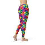 Rainbow Pinwheel Leggings