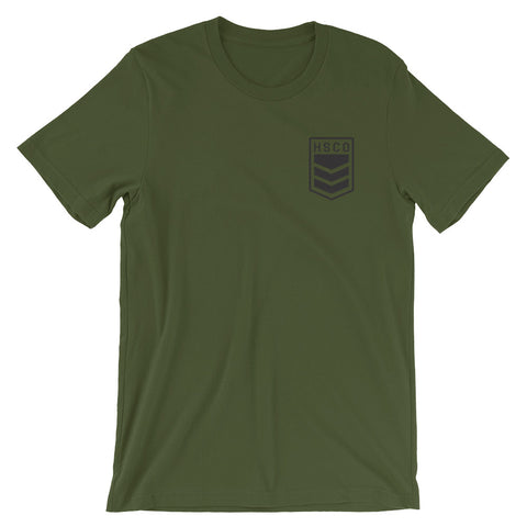 Salute Short-Sleeve Unisex T-Shirt Front and Back(Back Shown)