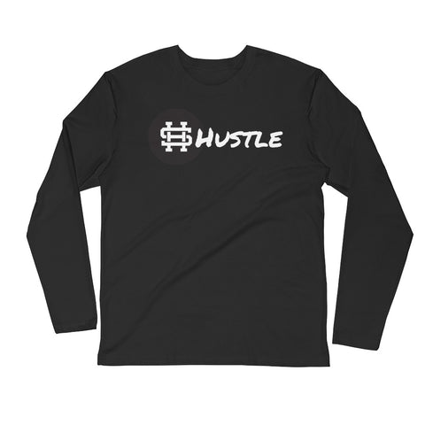 HUSTLE PREMIUM Long Sleeve Fitted Crew