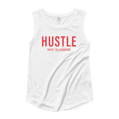 Hustle RTS Ladies Muscle Tee- 2 color options - Hustle Standard Co.
