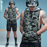 Mens Camo Sleeveless Hoodie - Hustle Standard Co.