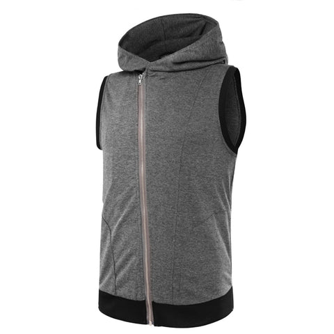 Men's Full Zip Sleeveless Hoodie- 3 Color Options