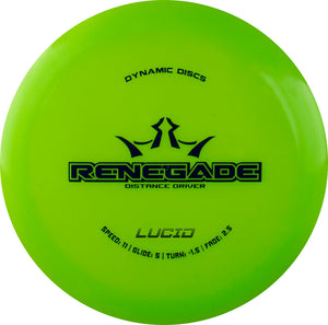 Dynamic Discs Lucid Renegade Disc Golf Distance Drivers