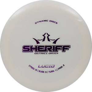 Dynamic Discs Lucid Sheriff Disc Golf Distance Driver