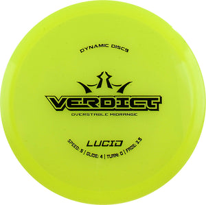 Dynamic Discs Lucid Verdict Disc Golf Midrange