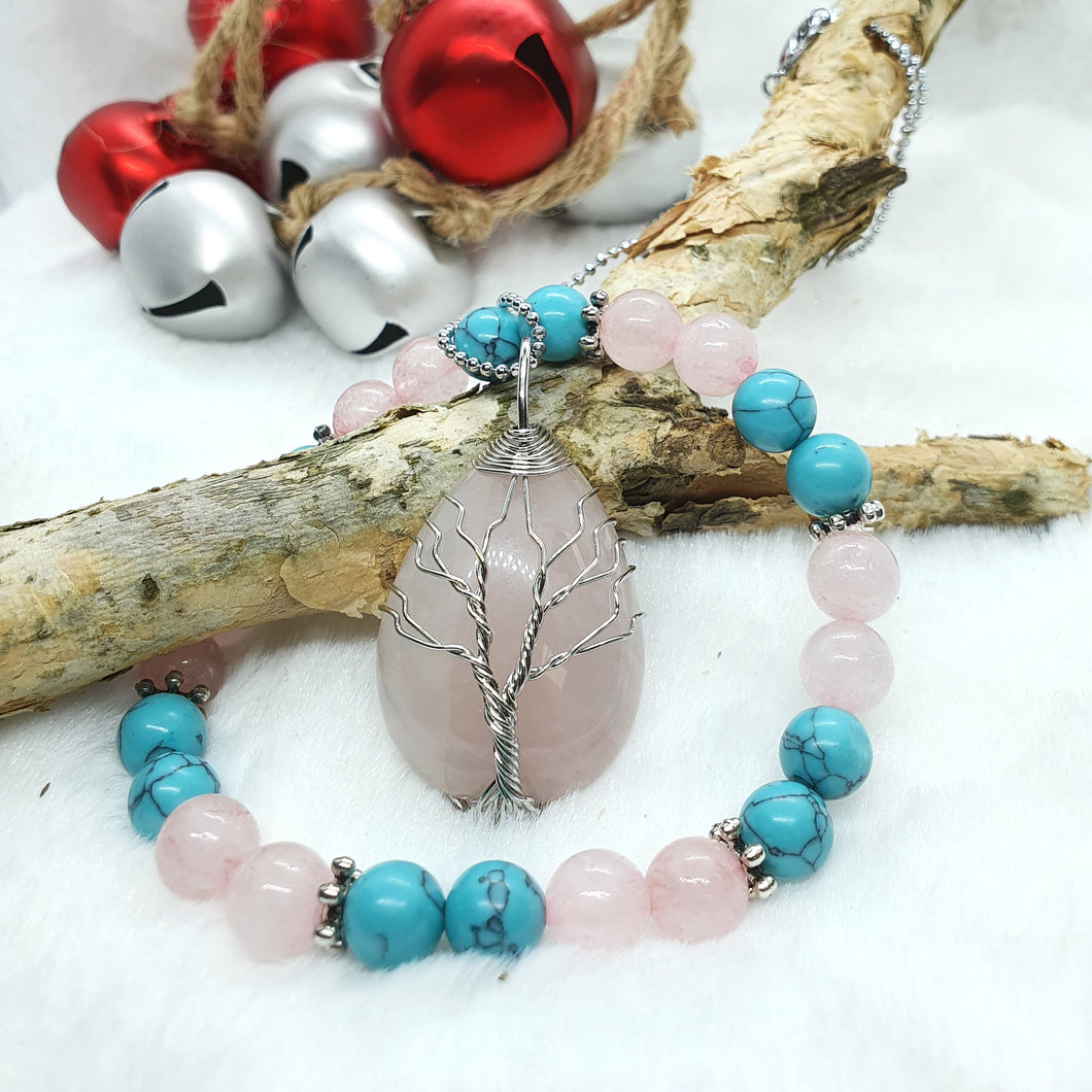 Rose Quartz Mix Set - Rose Quartz Set - Giveably