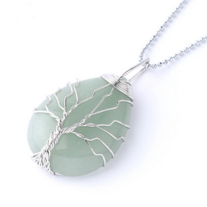 Aventurine Tree of Life Necklace - Aventurine Necklace - Giveably