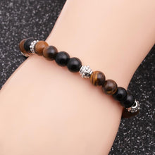 Balanced Wellbeing Bracelet - Tiger Eye and Obsidian Bracelet - Giveably