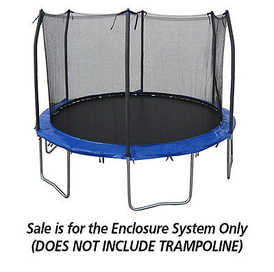 12ft Universal Trampoline Safety Enclosure System w/ 6 Poles - Trampoline Net System
