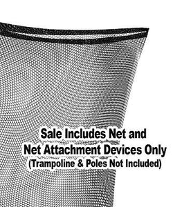 OVAL Trampoline Net 17x15ft Frame (fits 4 Arch Poles with straps) **NET ONLY**