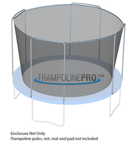 Trampoline Net 14ft Frame (4 Arch Poles - Straps) **NET ONLY**