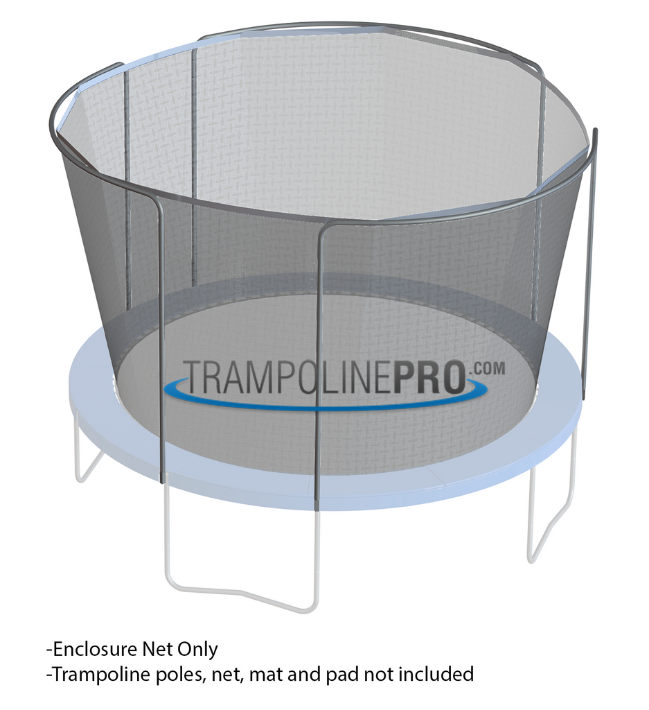 Trampoline Pro 14ft ROUND Frame Net for 3 Arch Poles (Straps)**NET ONLY**