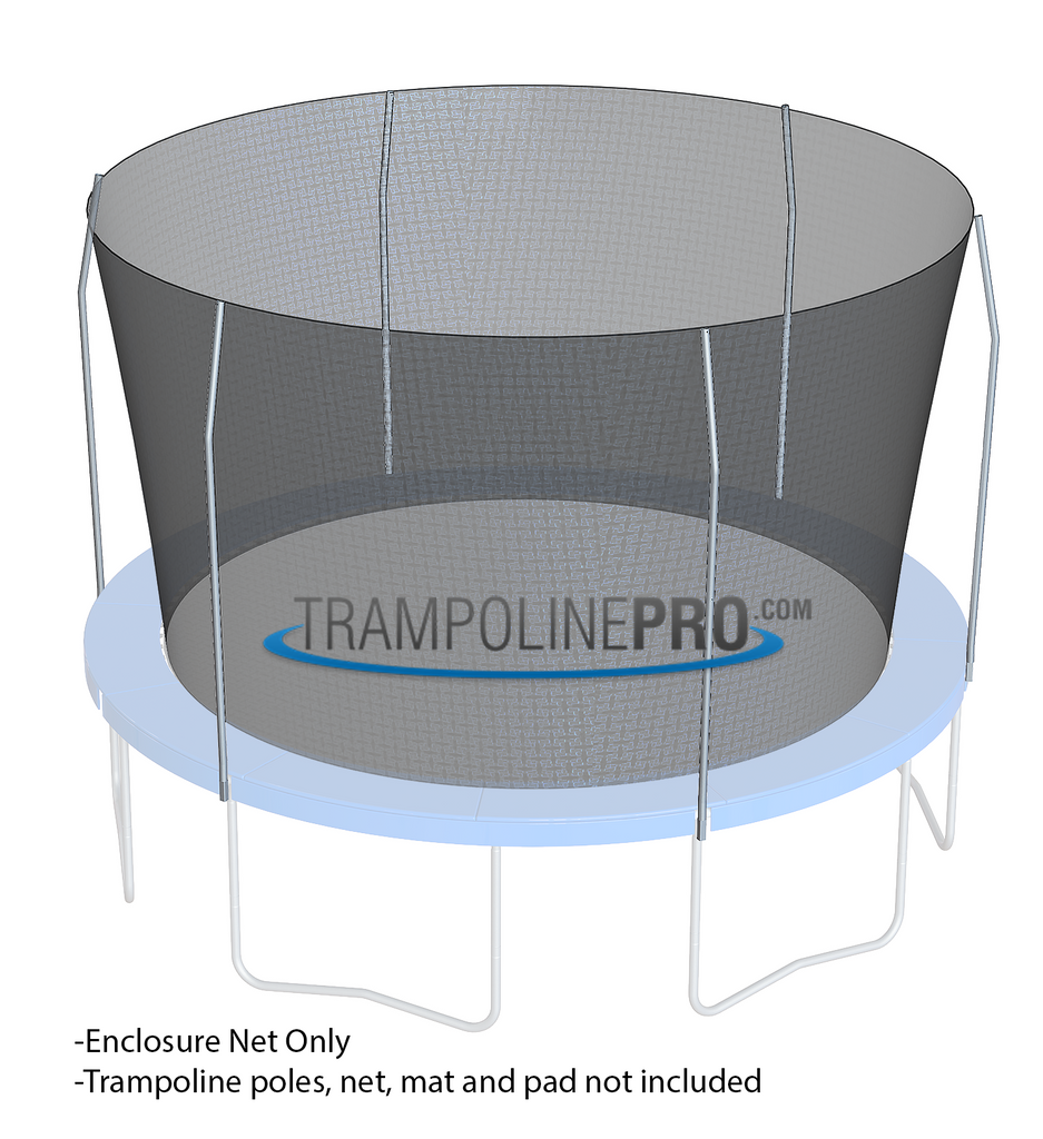 Trampoline Pro 15ft ROUND Frame Net For 6 Top Ring Poles **NET ONLY**