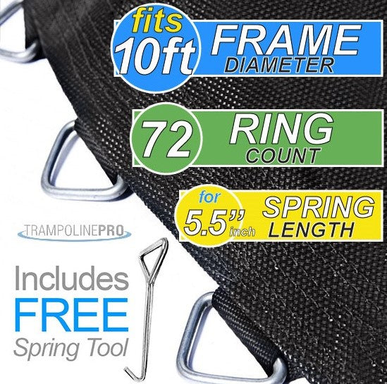 "Trampoline Mat 10ft Frame (100"" Mat & 72 Rings FOR 5.5"" Springs) **MAT ONLY**"