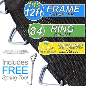 "Trampoline Mat 12ft Frame (126"" Mat & 84 Rings FOR 5.5"" Springs) **MAT ONLY**"