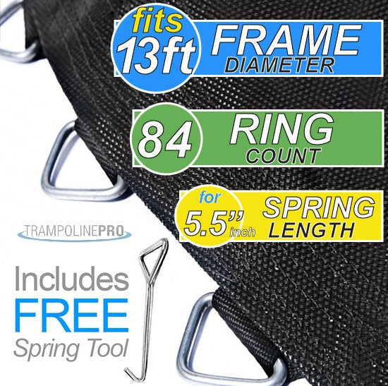 "Trampoline Mat 13ft ROUND Frame (139"" Mat & 84 Rings FOR 5.5"" Springs) **MAT ONLY**"