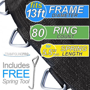 "Trampoline Mat 13ft ROUND Frame (139"" Mat & 80 Rings FOR 5.5"" Springs) **MAT ONLY**"