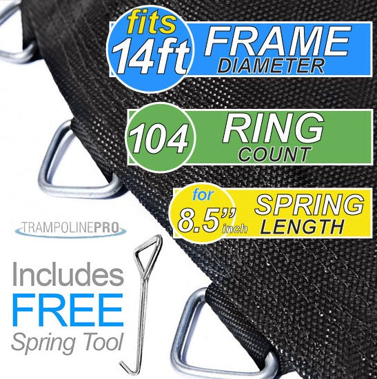 "Trampoline Mat 14ft Frame (144"" Mat & 104 Rings FOR 8.5"" Springs) **MAT ONLY**"