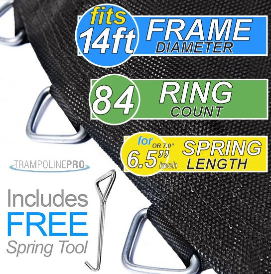 "Trampoline Mat 14ft Frame (147"" Mat & 84 Rings FOR 6.5"" Springs) **MAT ONLY**"