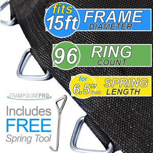 "Trampoline Mat 15ft Frame (161"" Mat & 96 Rings FOR 6.5"" Springs) **MAT ONLY**"