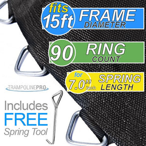 "159"" Mat with 90 Rings FOR 15"" Round Frame and 7.0"" Springs"