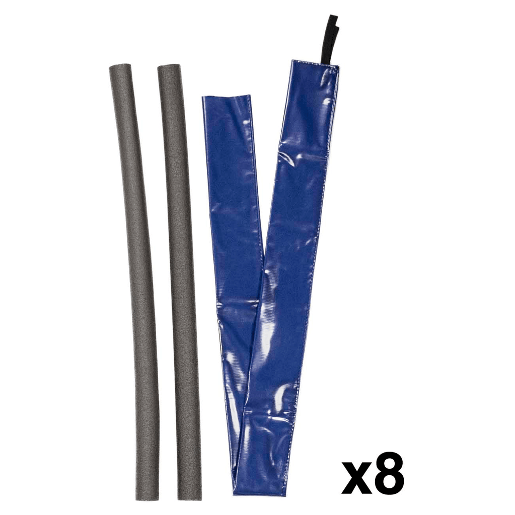 Pole Foam and Vinyl Sleeves for Trampoline Enclosure | Royal Blue