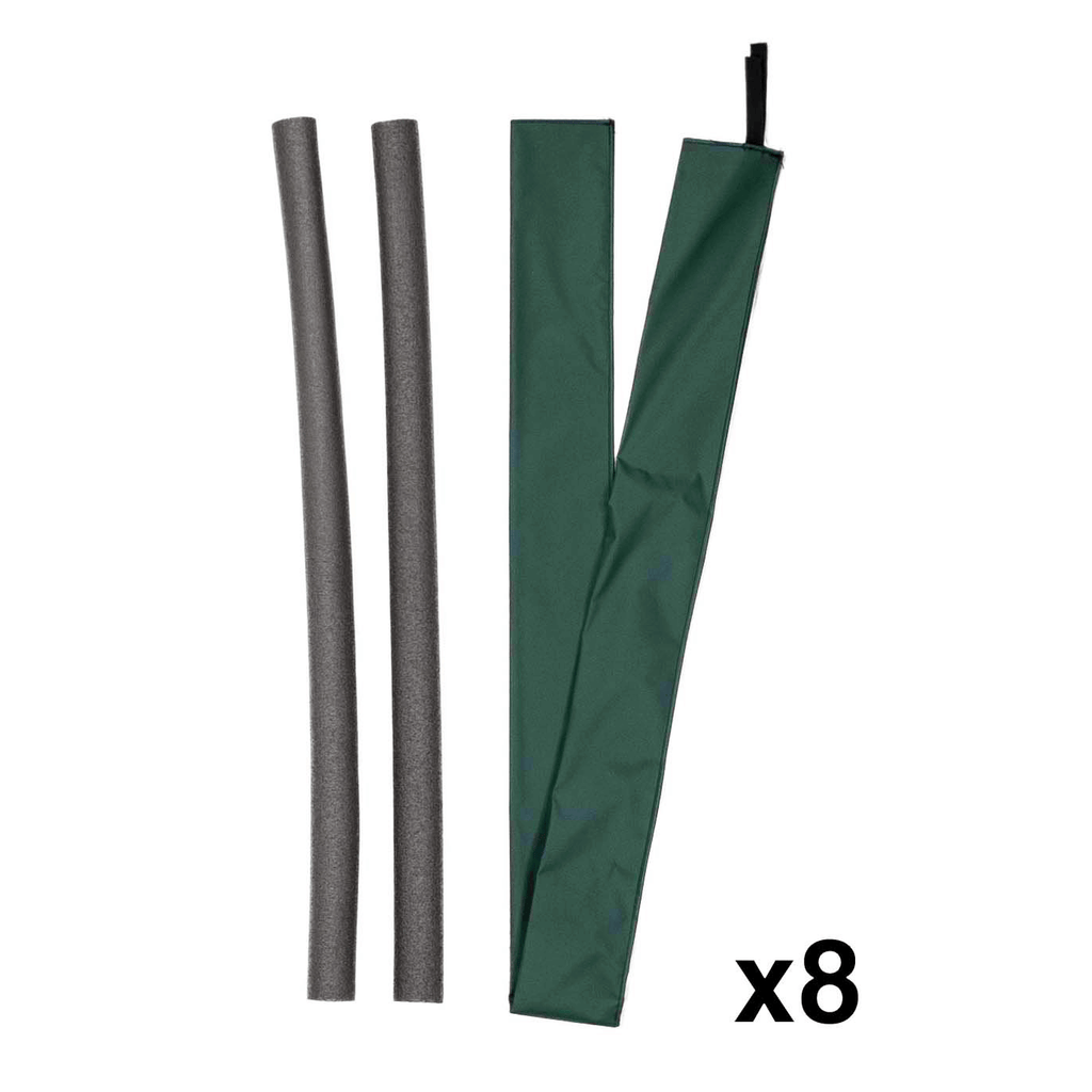 Pole Foam and Vinyl Sleeves for Trampoline Enclosure | Green