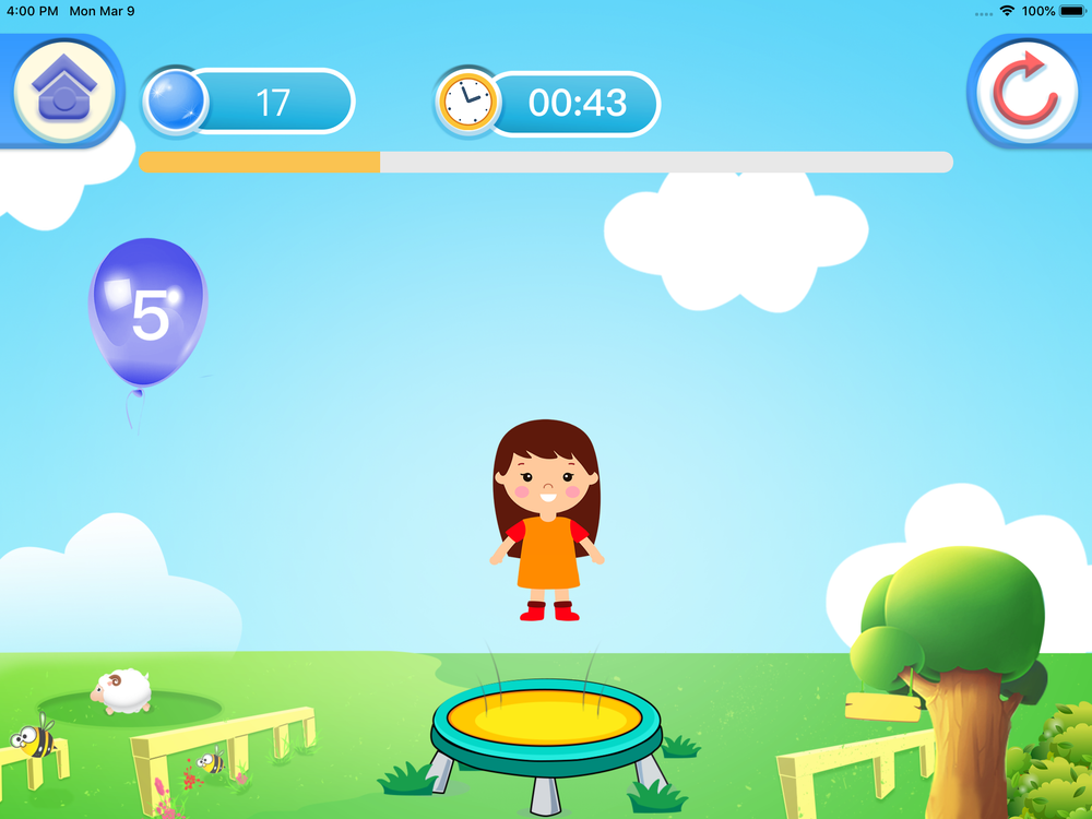 Trampoline Pro 48-Inch Mini Indoor Trampoline for Kids and Toddlers | Free Apple iOS and Android Interactive Game App Included