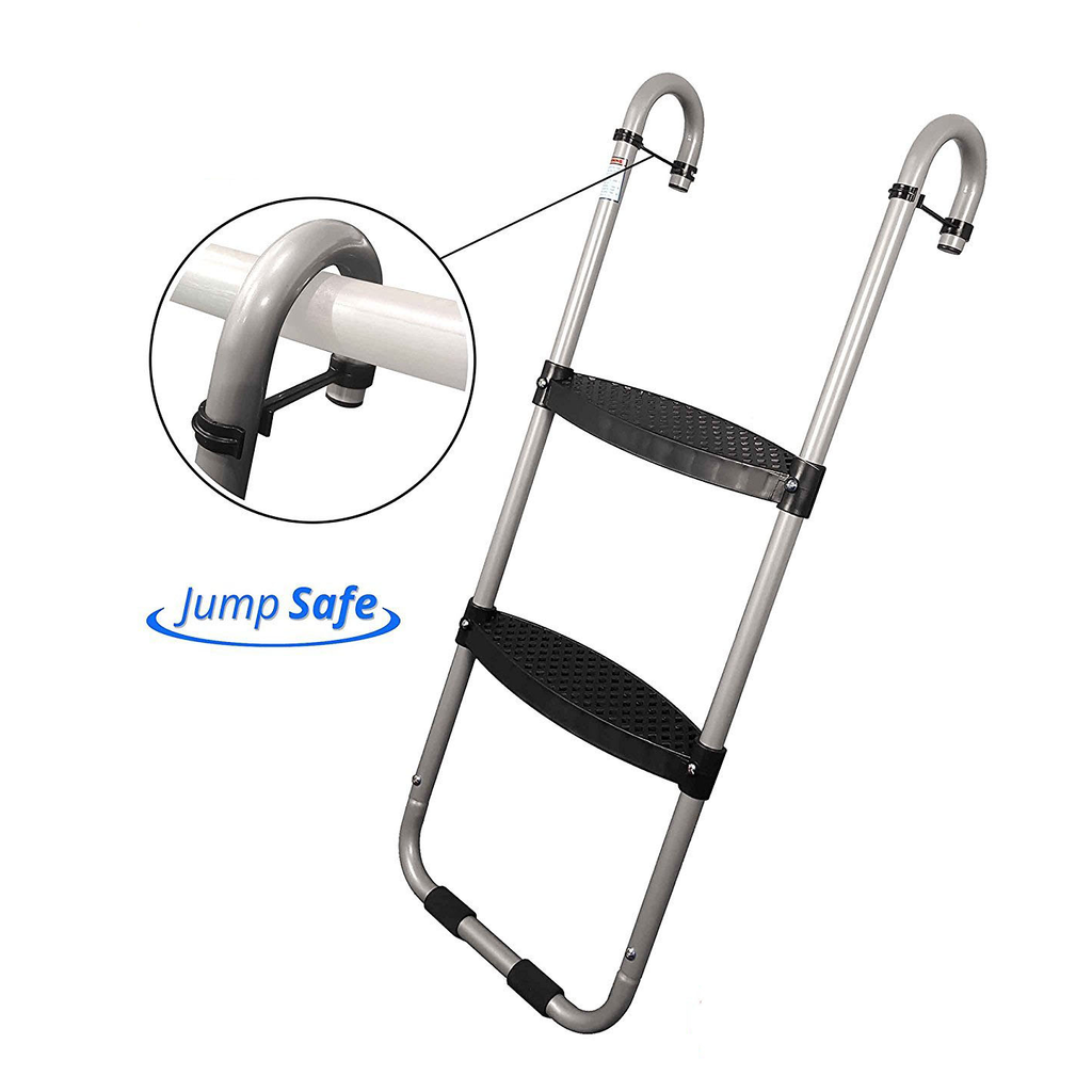 Trampoline Ladder 2-Step with Safety Latch