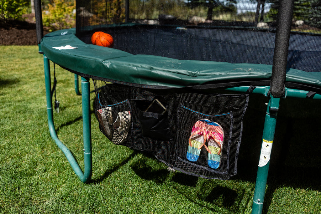 Premium Trampoline Shoe Bag Organizer With Water Resistant Pouch