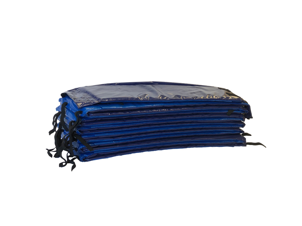 14ft or 15ft Premium Double Thickness Trampoline Spring Pad ROUND — Royal Blue