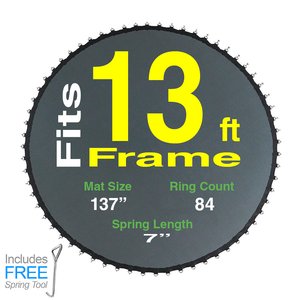 "137"" Mat with 84 Rings FOR 13ft Round Frame and 7"" Springs"