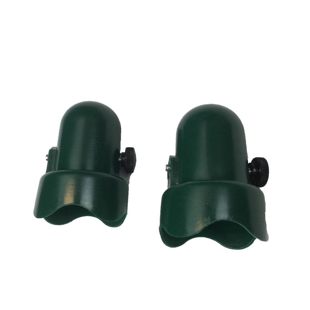 "Trampoline Green Pole Caps with Bolts Fits 1.5"" Diameter Enclosure Pole—Set of 2"