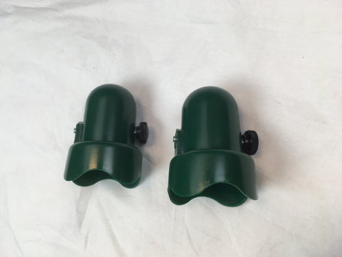 Trampoline Green Pole Caps with Bolts Fits 1.5