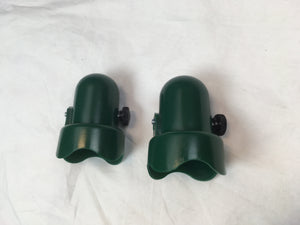 "Trampoline Green Pole Caps with Bolts Fits 1.5"" Diameter Enclosure Pole-Set of 2 