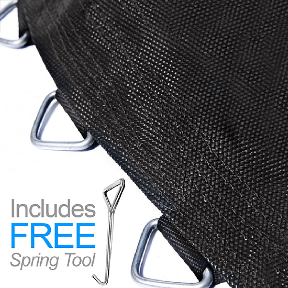 "Trampoline Mat 11ft SQUARE Frame (9.3ft Mat with 72 Rings FOR 6.5"" Springs) **MAT ONLY**"