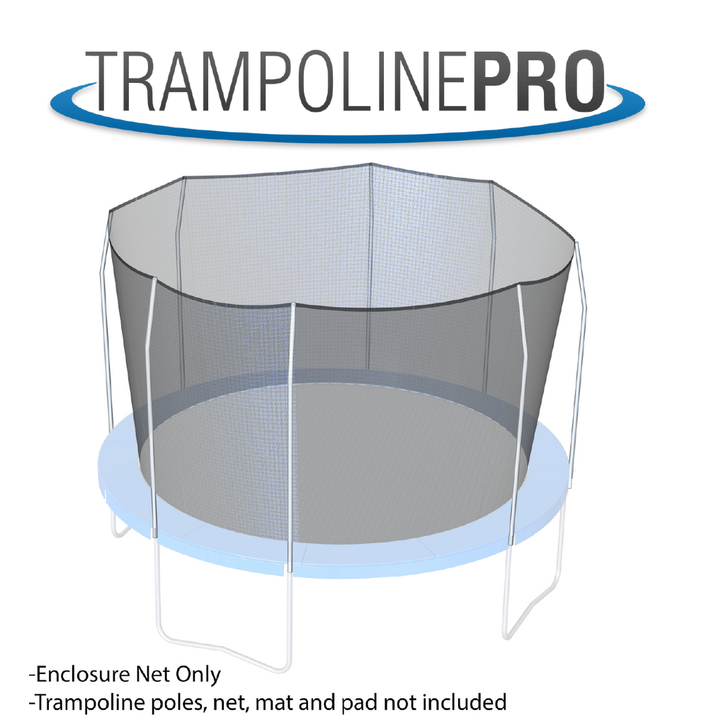 Trampoline Pro 13ftx13ft SQUARE Frame Net for 4 Arches (Straps)**NET ONLY**