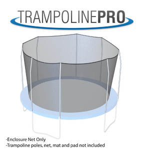 Trampoline Pro 14ft ROUND Frame Net for Top Ring 4 Poles**NET ONLY**