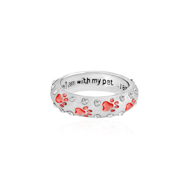 Dog Paw Footprints Ring - Doggie Jewels