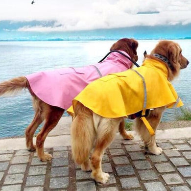 S-4XL Large Dog Waterproof Rain Coat - Doggie Jewels