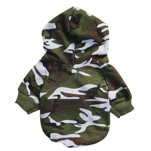 Camouflage Sweatshirts Dog Clothes - Doggie Jewels