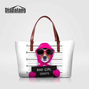 Bad Girl Doggie Animal Dog and other animal varieties available in selection - Printed Shoulder Bag Large Shopping Bag - Doggie Jewels