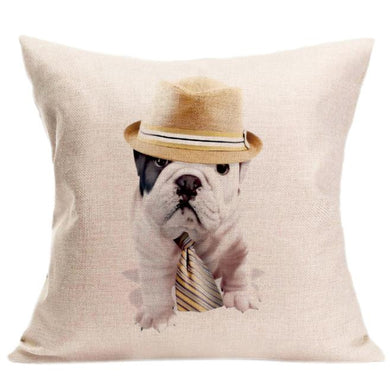 Vintage Cute Dog Pillow - Doggie Jewels