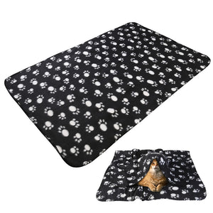 Huge Hide Under Dog Paw Print Fleece Throw Blanket - Doggie Jewels