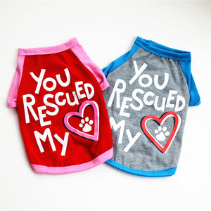 You rescued my heart doggie t-shirt - Doggie Jewels