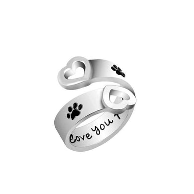 I Will Love You Forever Ring - Dog Print - Doggie Jewels