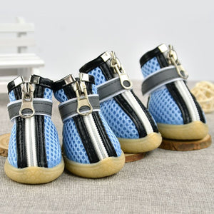Zipper Shoes Soft Leather Anti-Slip Shoes - Doggie Jewels